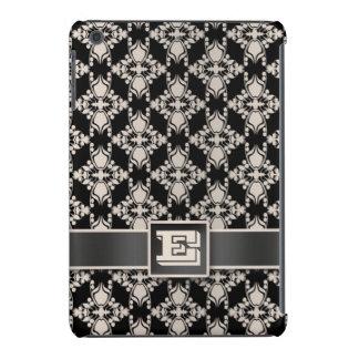 Vintage silver black damask iPad mini Retina iPad Mini Retina Case