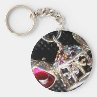 Vintage Silver Charm Bracelet Keychain