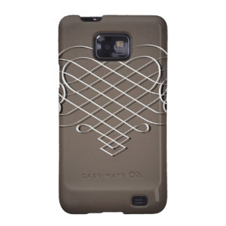 Vintage Silver Design on Brown Samsung Galaxy SII Cover