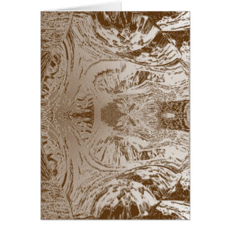 Vintage Silver Graphic - Cave Style Art Patterns Card