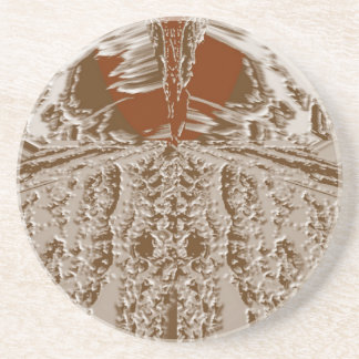 Vintage Silver Graphic - Cave Style Art Patterns Coaster