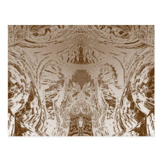Vintage Silver Graphic - Cave Style Art Patterns Postcard