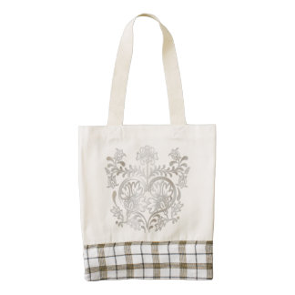 Vintage Silver Heart & Flowers - Tote Bag 1