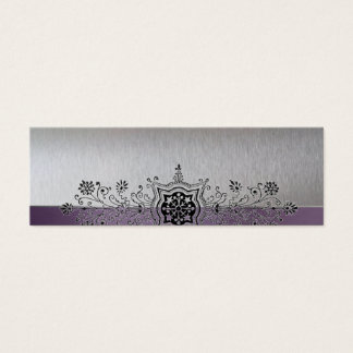 Vintage Silver Purple Narrow Place Cards