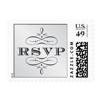 Vintage Silver RSVP stamp
