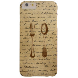 Vintage Silverware Fork & Spoon iPhone 6 Plus Case