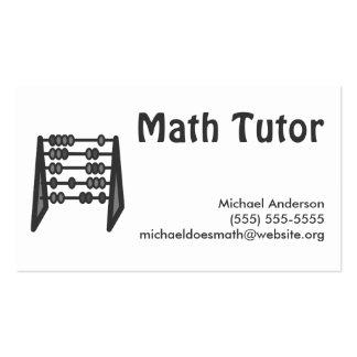 Vintage Simple Black White Math Tutor Business Cards