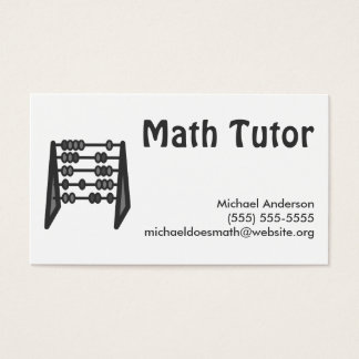 Vintage Simple Black White Math Tutor Business Card