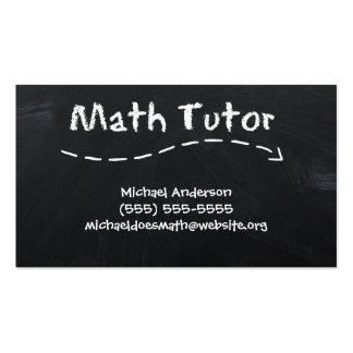 Vintage Simple Black White Math Tutor Chalkboard Business Card Template