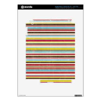 Vintage Simple Color  Paper Horizontal Stripe iPad 3 Decal