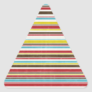 Vintage Simple Color  Paper Horizontal Stripe Triangle Sticker