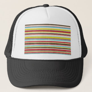 Vintage Simple Color  Paper Horizontal Stripe Trucker Hat