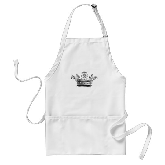 Vintage Simple Crown...apron Adult Apron