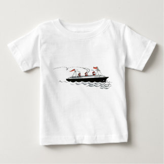 Vintage Simple Ship Illustration Baby T-Shirt