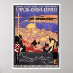 Vintage Simplon Oriente Londres expreso Constantin Poster
