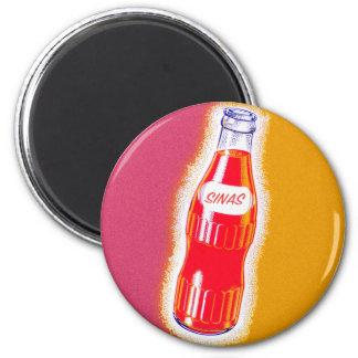 Vintage Sinas Orange Soda Pop Bottle Illustration Magnet