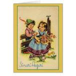 Vintage Sinceri Auguri Italian Birthday Card