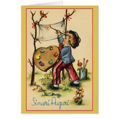 Vintage sinceri auguri italian birthday card zazzle bookmarktalkfo Gallery