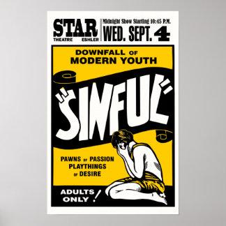 Vintage Sinful Movie Poster