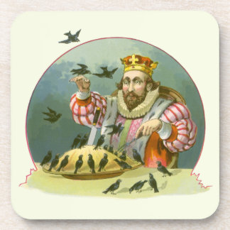 Vintage Sing a Song of Sixpence Nursery Rhyme Coasters