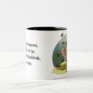 Vintage Sing a Song of Sixpence Nursery Rhyme Coffee Mug