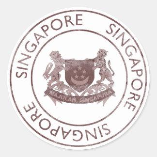 Vintage Singapore Classic Round Sticker