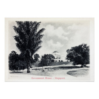 Vintage Singapore - Government House Poster