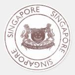 Vintage Singapur Etiquetas Redondas