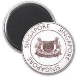 Vintage Singapur Imán