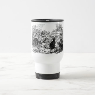 Vintage Singing Cats Travel Mug
