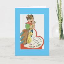 Vintage Singing Cowboy Valentine Holiday Card