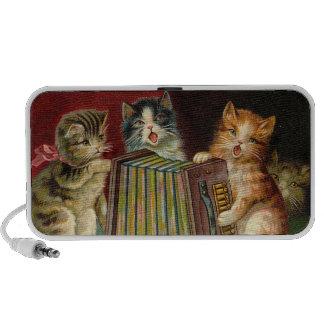 Vintage Singing Kitty illustration -Speakers Notebook Speakers