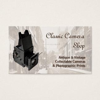 Vintage single lens reflex camera business card