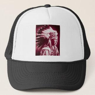 Vintage Sioux Lakota Chief White Swan Trucker Hat
