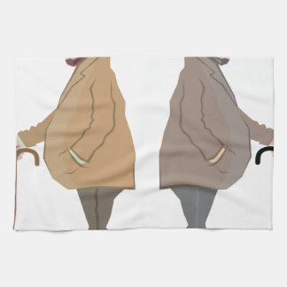 Vintage Sir with a Stick Vector Hand Towel