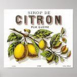 Vintage Sirop de Citron Ad - Poster