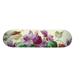 Vintage Sissy Floral Bugs Girly Girl Skateboard