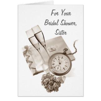 VINTAGE SISTER BRIDAL SHOWER CARD