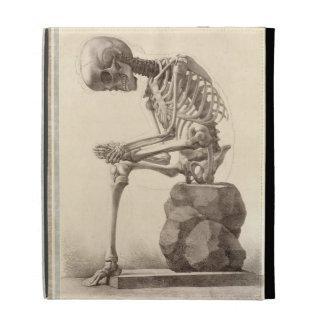 Vintage Sitting Skeleton iPad Folio Cover