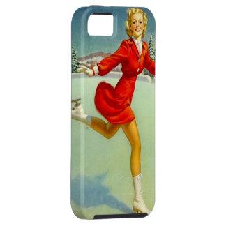 Vintage Skaters Waltz Retro Pinup Girl Skating iPhone SE/5/5s Case