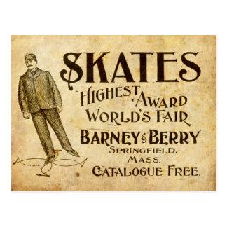 Vintage Skates Ad from 1899 Postcard