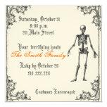 Vintage Skeletal Halloween Invitation
