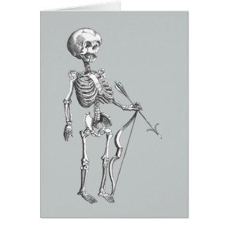 Vintage Skeleton Archer Greeting Card