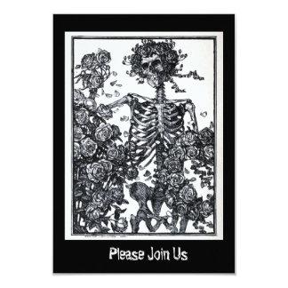 Vintage Skeleton Day of the Dead Halloween Card