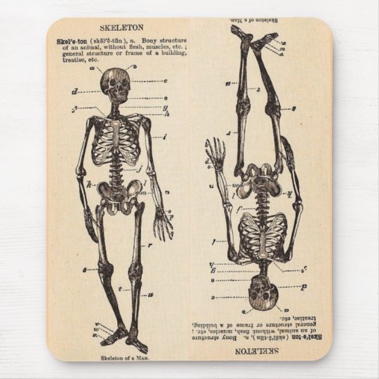 "Vintage ""Skeleton"" Definition Mouse Pad"