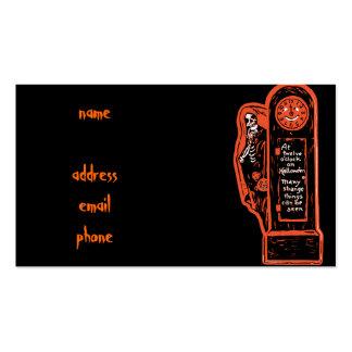 Vintage Skeleton Grandfather Clock Business Card