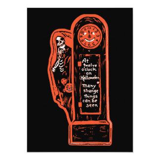 Vintage Skeleton Grandfather Clock Card