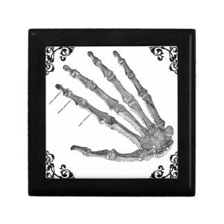 Vintage Skeleton Hand Gothic Jewelry Box