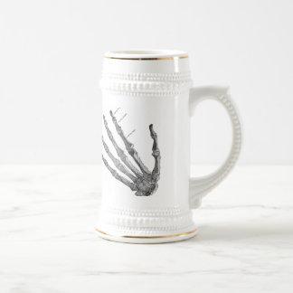 Vintage Skeleton Hands Gothic Punk Beer Stein