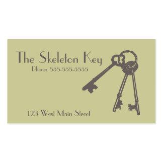 Vintage Skeleton Key Business Card